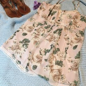 Very light flower blouse.